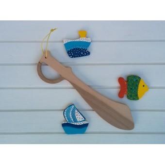 Drvena igračka -  drveni mač - Gusarska sablja 1