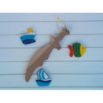 Drvena igračka -  drveni mač - Gusarska sablja 2