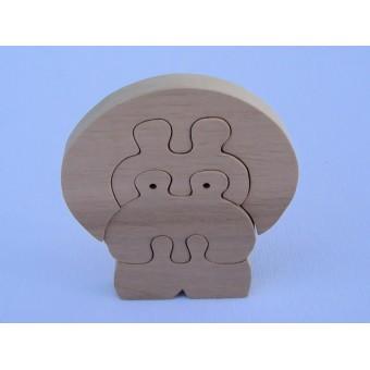 Drvene puzzle - Hippo