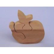 Drvene puzzle - Jabuka i crv