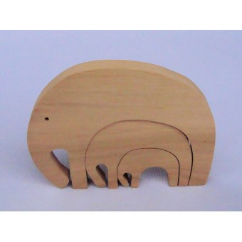 Drvene puzzle - Tri slona