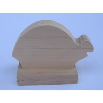 Drvene slagalice na štapiću - Kornjača