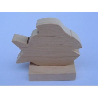 Drvene slagalice na štapiću - Riba