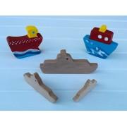 Drvena igračka - vozilo bez kotača - Brod 2