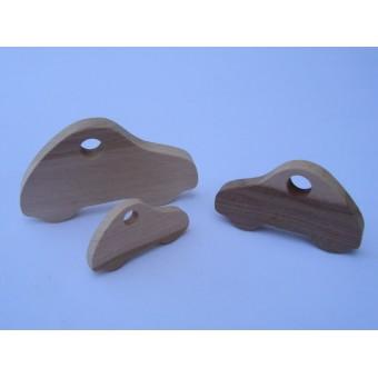 Drvena igračka -  vozilo bez kotača - Fićo