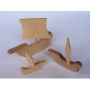 Drvena igračka - vozilo bez kotača - Jedrenjak 1