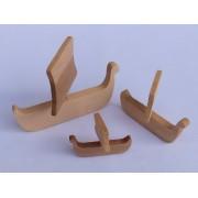 Drvena igračka - vozilo bez kotača - Vikinški brod