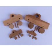 Drvena igračka - vozilo - Kamion - rastavljen