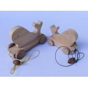 Drvena igračka - životinja za vući - Kit
