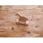 Drvena igračka - životinja za vući - Konj