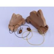 Drvena igračka - životinja za vući - Zec