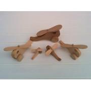 Drvena igračka - vozilo - Helikopter