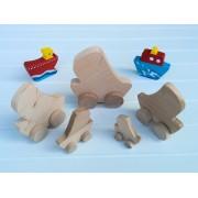 Drvena igračka - vozilo - Jedrilica