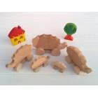 Drvena igračka - životinja na kotačima - Jež