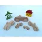 Drvena igračka -  vozilo - Kabriolet 1