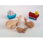 Drvena igračka - životinja na kotačima - Kit