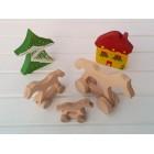 Drvena igračka - životinja na kotačima - Konj