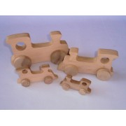 Drvena igračka - vozilo - Lokomotiva