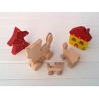 Drvena igračka - životinja na kotačima - Mačka