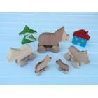 Drvena igračka - životinja na kotačima - Pajcek