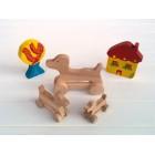 Drvena igračka - životinja na kotačima - Pas 2