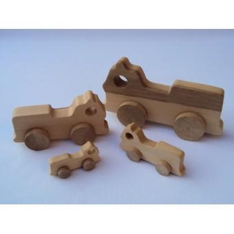 Drvena igračka - vozilo - Vatrogasci