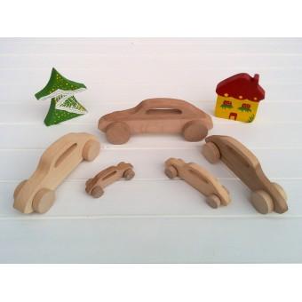 Drvena igračka - vozilo - Citreon Žaba