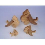 Drvena igračka - životinja na kotačima - Zmaj