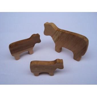 Drvena životinja - Krava