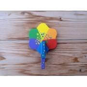Drveni magnet - Cvijet 2