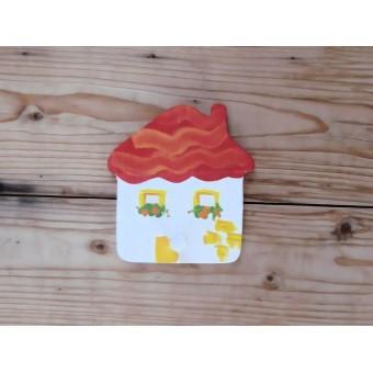 Drveni magnet - Kuća