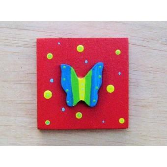 Drvena sličica - mala - Leptir