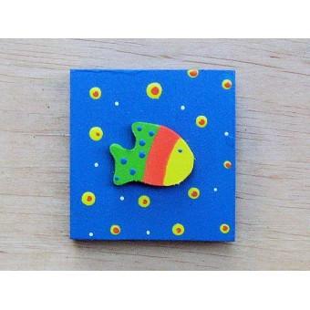 Drvena sličica - mala - Riba