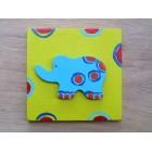 Drvena sličica - srednja - Slon