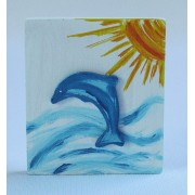 Drvena sličica - velika - Delfin