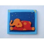Drvena sličica - velika - Slon
