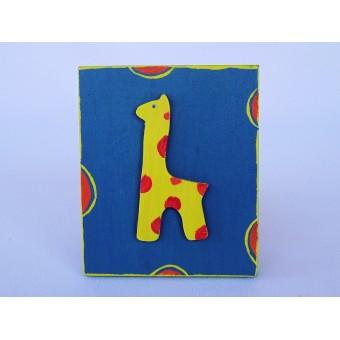 Drvena sličica - velika - Žirafa