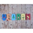 Drvena slova - puzzle