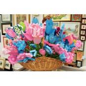 Drveno cvijeće i ukrasi
