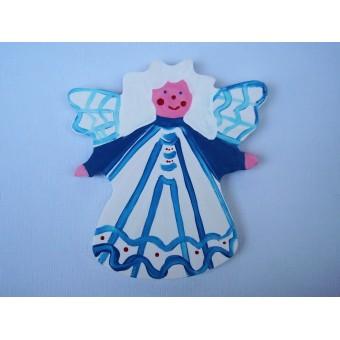Drveni ukras za zid - Anđeo 2