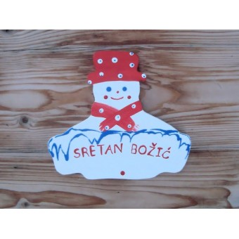 Drveni natpis - Snjegović
