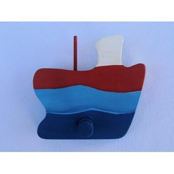 Drvena vješalica - velika - Brod 3