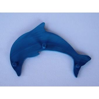 Drvena vješalica - mala - Delfin