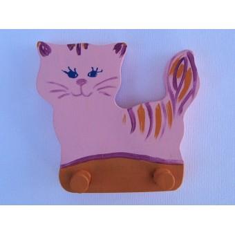 Drvena vješalica - velika - Mačka 2