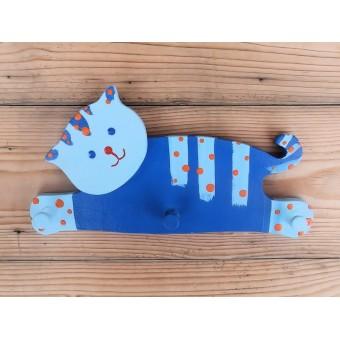 Drvena vješalica - mala - Mačka