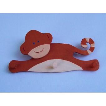 Drvena vješalica - mala - Majmun