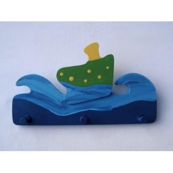 Drvena vješalica - mala - More i brod 2