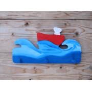 Drvena vješalica - mala - More i brod 3