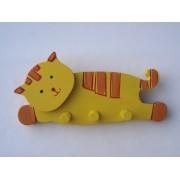 Drvena vješalica - velika - Mačka 1